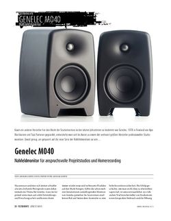 Sound & Recording Genelec M040 - Studiomonitore getestet & gemessen
