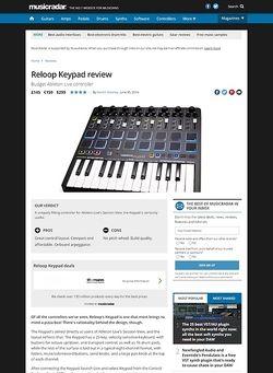 MusicRadar.com Reloop Keypad