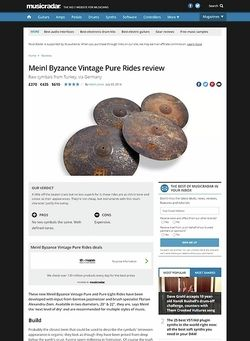 MusicRadar.com Meinl Byzance Vintage Pure Rides
