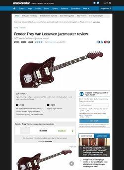 MusicRadar.com Fender Troy Van Leeuwen Jazzmaster