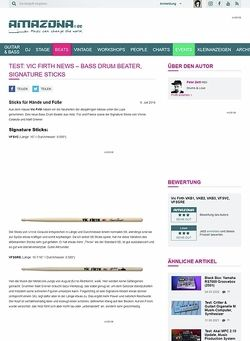 Amazona.de Test: Vic Firth News - Bass Drum Beater, Signature Sticks