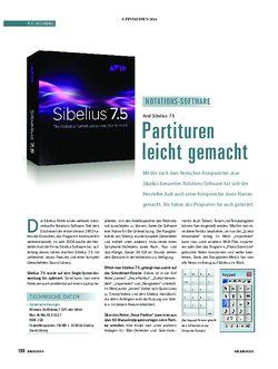 Soundcheck Sibelius 7.5