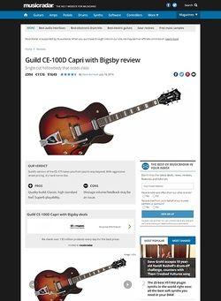 MusicRadar.com Guild CE-100D Capri with Bigsby