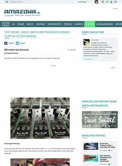 Amazona.de Top News: Dave Smith Instruments DSM01, Curtis Filter-Modul