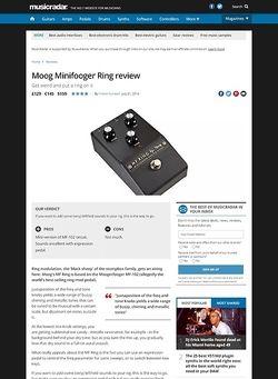 MusicRadar.com Moog Minifooger Ring