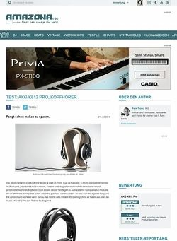 Amazona.de Test: AKG K812 Pro, Kopfhörer