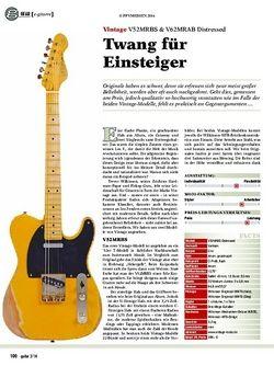 Guitar Vintage V52MRBS & V62MRAB Distressed