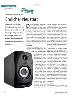 Recording Magazin Tannoy Reveal 402 & 502