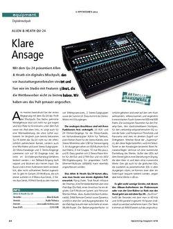 Recording Magazin Allen&Heath Qu-24