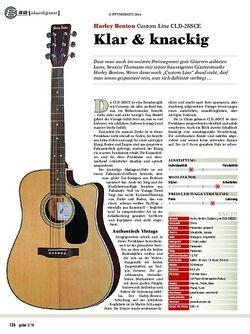 Guitar Harley Benton Custom Line CLD-28SCE