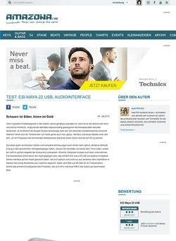 Amazona.de Test: ESI Maya 22 USB, Audiointerface
