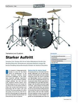 Drumheads Test Yamaha Live Custom Drumset