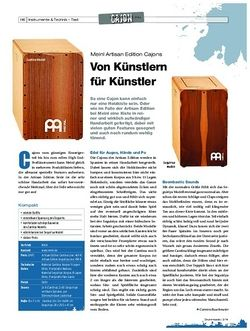 Drumheads Meinl Artisan Edition Cajons