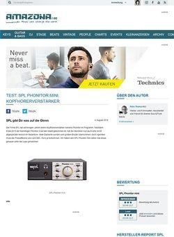 Amazona.de Test: SPL Phonitor mini, Kopfhörerverstärker