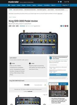 MusicRadar.com Korg SDD-3000 Pedal