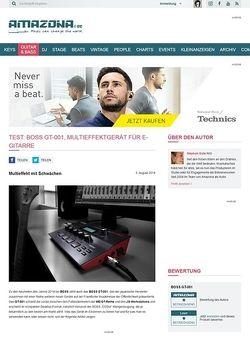 Amazona.de Test: Boss GT-001, Multieffektgerät für E-Gitarre