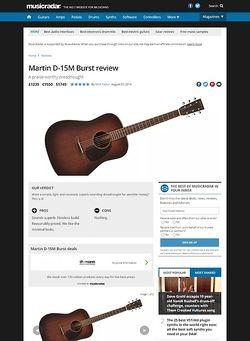 MusicRadar.com Martin D-15M Burst
