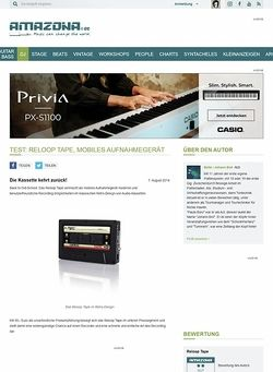 Amazona.de Test: Reloop Tape, mobiles Aufnahmegerät