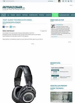 Amazona.de Test: Audio Technica ATH-M50x, Studiokopfhörer