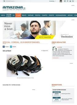 Amazona.de Special: Cordial, XLR-Mikrofonkabel