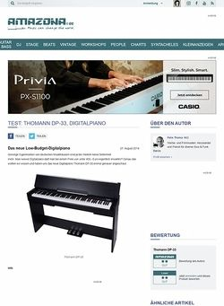Amazona.de Test: Thomann DP-33, Digitalpiano