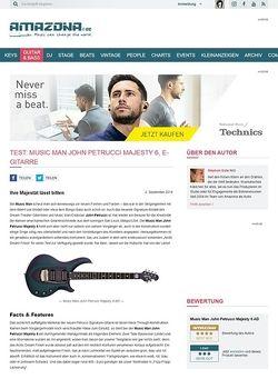 Amazona.de Test: Music Man John Petrucci Majesty 6 AD, E-Gitarre
