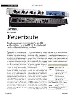 Soundcheck RME Fireface 802