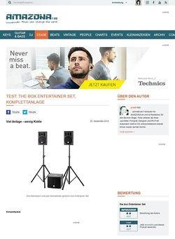 Amazona.de Test: the box Entertainer Set, Komplettanlage