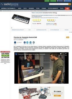 Audiofanzine.com Native Instruments Komplete Kontrol S49