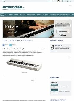 Amazona.de Test: Roland FP-50, Stagepiano