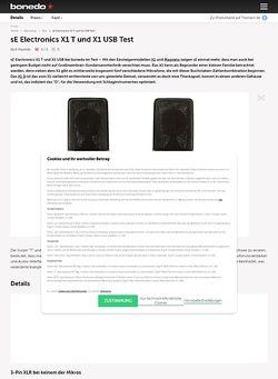 Bonedo.de sE Electronics X1 T und X1 USB