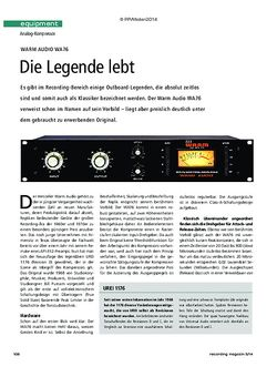 Recording Magazin Warm Audio WA76
