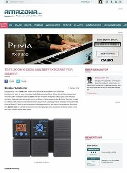 Amazona.de Test: Zoom G1Xon, Multieffektgerät für Gitarre
