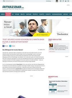Amazona.de Test: Source Audio Soundblox 2 Manta Bass Filter, E-Bass Effektgerät