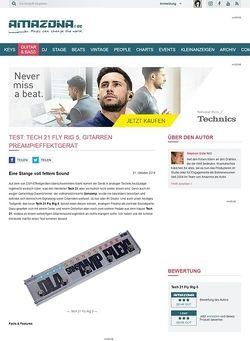 Amazona.de Test: Tech 21 Fly Rig 5, Gitarren Preamp/Effektgerät