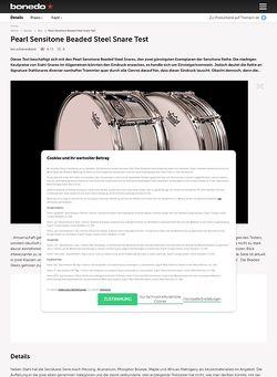 Bonedo.de Pearl Sensitone Beaded Steel Snare