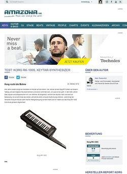Amazona.de Test: Korg RK-100S, Keytar-Synthesizer