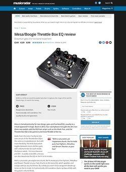 MusicRadar.com Mesa Boogie Throttle Box EQ