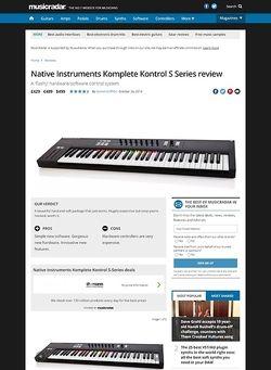MusicRadar.com Native Instruments Komplete Kontrol S Series