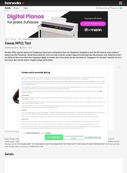 Bonedo.de Kawai MP-11