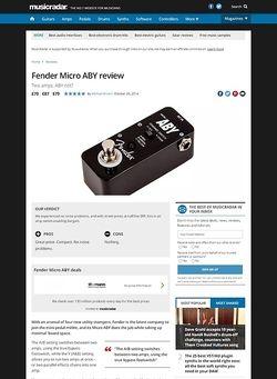 MusicRadar.com Fender Micro ABY