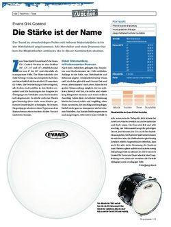 Drumheads Evans G14 Coated