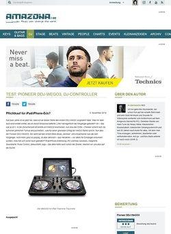 Amazona.de Test: Pioneer DDJ-WeGO3, DJ-Controller