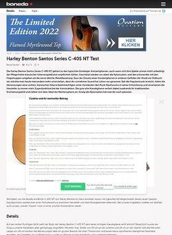 Bonedo.de Harley Benton Santos Series C-40S NT