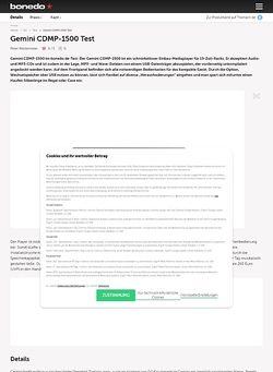 Bonedo.de Gemini CDMP-1500