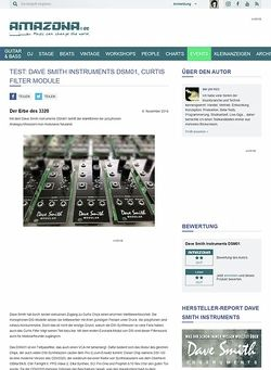 Amazona.de Test: Dave Smith Instruments DSM01, Curtis Filter Module