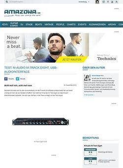 Amazona.de Test: M-Audio M-Track Eight, USB-Audiointerface
