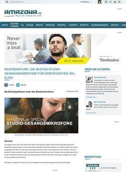 Amazona.de Special: Studio-Gesangsmikrofone Teil 1, Einsteiger bis 300,- Euro
