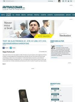 Amazona.de Test: sE Electronics X1, X1R, X1 USB, X1T, X1D, Großmembran Mikrofone
