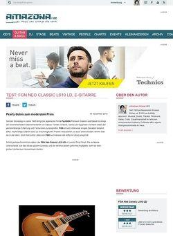 Amazona.de Test: FGN Neo Classic LS10 LD, E-Gitarre